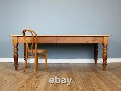 Large 19th Century French Pine Refectory Farmhouse Dining Table