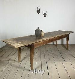 Large Antique 2.9m French Kitchen Dining Table