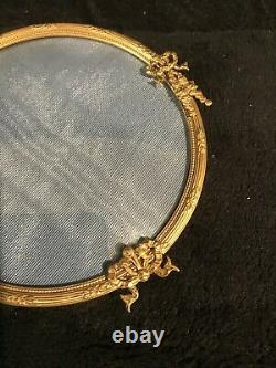 Large Antique French Gilt Bronze Dual Hanging Frame-326e