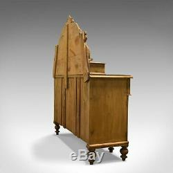 Large Antique Pine Sideboard, French, Late 19th Century, Buffet, Circa 1900