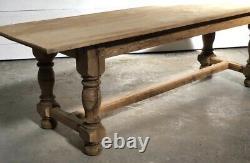 Large French Farmhouse Oak & Elm Farmhouse Refectory Dining Table C1880