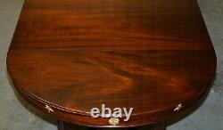Large French Napoleon III Empire Style Dining Table Bronze Mounts Part Suite