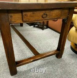 Large French Oak 4 Plank Refectory Dining Table Farmhouse 19th C Stunning