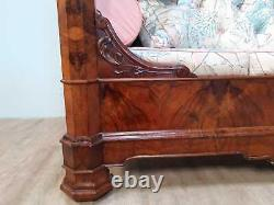 Large French Walnut Couch Circa 1890