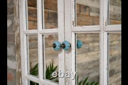 Large Wood Rustic French 2door Shutter Style Wall Mirror With Door Appearance