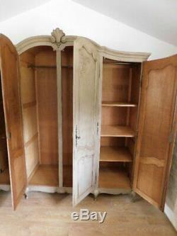 Large vintage french armoire wardrobe