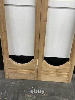 Late Victorian French Doors Antique Period Reclaimed Old Arts Crafts Pine Wood