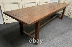Long French Oak Farmhouse Refectory Dining Table 19th Century Original Colour