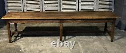 Long French Rustic Oak Refectory Farmhouse Dining Table Circa 1850
