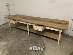 Lovely, Antique, Vintage, French Drapers Table, 295cm Long, Shop Display