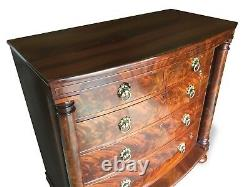 Magnificent Antique Victorian Flame Mahogany Chest of drawers French polished