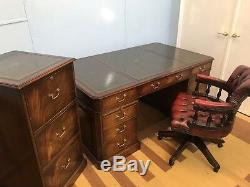 Magnificent George III Style Designer Desk Set Professionally French Polished