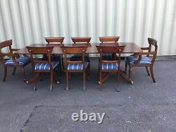Magnificent set 8 William IV style Bar back mahogany chairs French polished