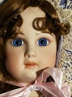 Mary Benner Silver and Blue Antique Reproduction Jumeau 36Victorian French Doll