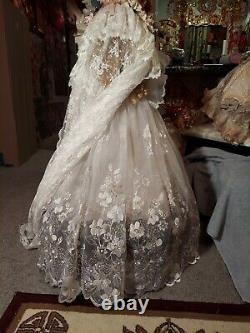 Mary Benner Wedding Bride Antique Reproduction Jumeau 36Victorian French Doll
