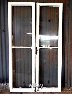 Original Antique Victorian Pine Pair of Glazed French Garden Doors Reclaimed #A