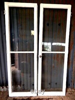 Original Antique Victorian Pine Pair of Glazed French Garden Doors Reclaimed #B