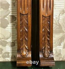 Pair Acanthus leaf carving corbel bracket Antique french architectural salvage