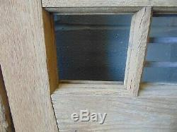 Pair Of Antique Solid Oak Internal Double / French Wooden Glazed Doors 588