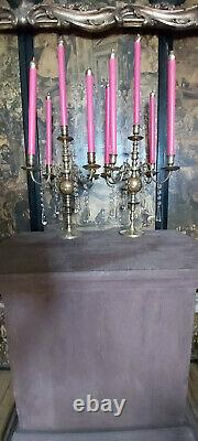 Pair Of Antique Victorian Candelabras French Candles Theatre/ Shop Display C