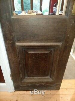 Pair Of Solid Mahogany Victorian French Partition Doors With Copper Kick Plate