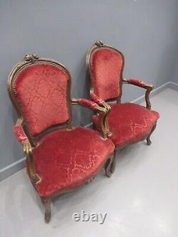Pair Of Victorian French Ladies Chairs Bedroom Chairs Library Chairs