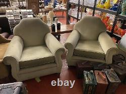 Pair of late Victorian French club chairs in fantastic condition