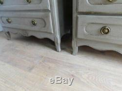 Pair of vintage french chest of drawers