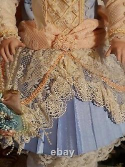 Pat Loveless Blue Jumeau Antique Victorian Reproduction French Doll 18 Lmt Ed
