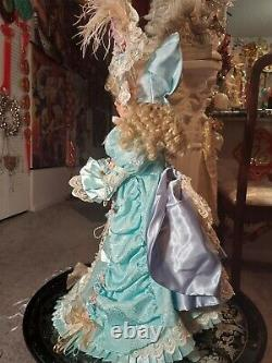 Pat Loveless Blue Lace Bru Jne Antique Victorian Reproduction French Doll 26