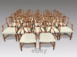 RARE Amazing set of 22 Prince of Wales style dining Chairs Pro French polished