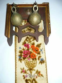 Rare Antique French Victorian SERVANT'S BELL Pull With Working Bells