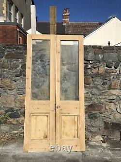 Reclaimed Victorian French Glass Double doors