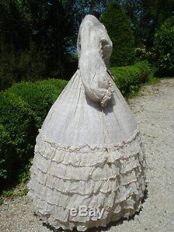 Robe ancienne Second Empire Antique french victorian Gown