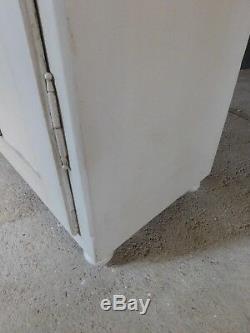 Rustic French antique pine larder kitchen linen cupboard cabinet 19th C
