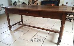 Rustic Oak French antique farmhouse country dining table