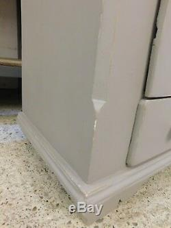 Rustic distressed French antique pine larder kitchen linen cupboard cabinet