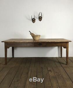 Stunning Antique French 7ft Country Farmhouse Kitchen Dining Table