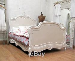 Stunning Antique French Double Rococo Crested Bed C1920