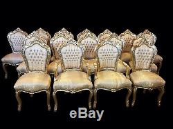 Stunning dining chairs sets 8,10,12,14,16,18 to French polished and Upholstered