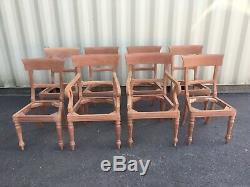 Stunning set 8 to 14 William IV style Bar back mahogany chairs French polished