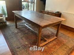 Table French Oak refectory farmhouse dining c1900