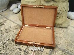 Terrific 19c Antique French Rosewood Document/jewellery Box Fab Interior