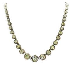 Victorian Diamond Riviere NECKLACE French Silver Rose Gold
