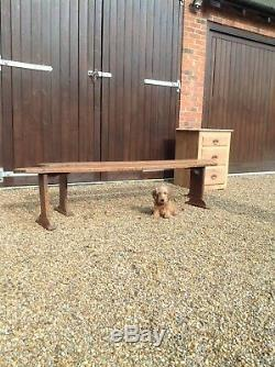 Victorian French Elm Antique Bench Pew Matching Pair