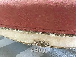 Victorian French Swedish cream gold paintwork pink sofa settee 2 seater antique