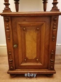 Victorian French Walnut Cabinet / Washstand with White Marble Top