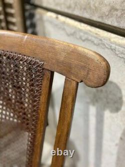 Victorian Steamer Chair / French Cane Folding Chair / Antique Folding Chair