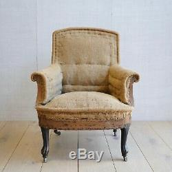Vintage Antique Napoleon III French Arm Chair Victorian