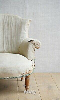 Vintage Antique Napoleon III French Tub Arm Chair Victorian